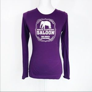 American Apparel Elephant Saloon Graphic Top